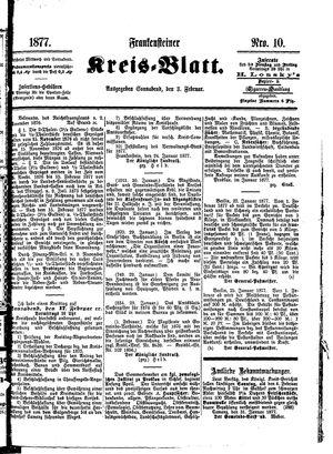 Frankensteiner Kreisblatt vom 03.02.1877