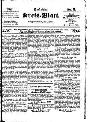 Frankensteiner Kreisblatt vom 07.02.1877