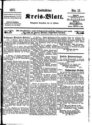Frankensteiner Kreisblatt on Feb 10, 1877