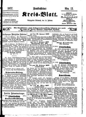 Frankensteiner Kreisblatt vom 14.02.1877