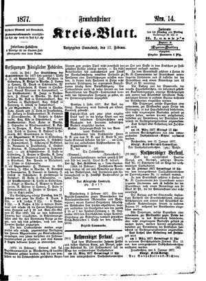 Frankensteiner Kreisblatt vom 17.02.1877