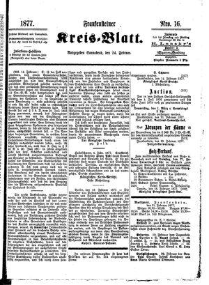 Frankensteiner Kreisblatt vom 24.02.1877