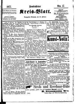 Frankensteiner Kreisblatt vom 28.02.1877