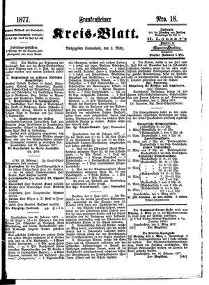 Frankensteiner Kreisblatt vom 03.03.1877