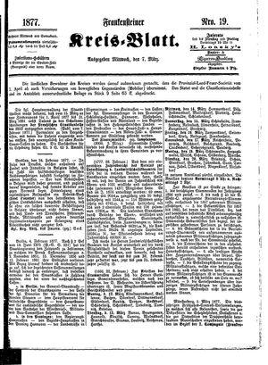 Frankensteiner Kreisblatt vom 07.03.1877