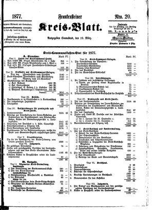 Frankensteiner Kreisblatt vom 10.03.1877