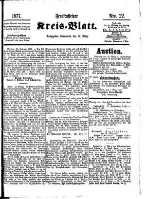 Frankensteiner Kreisblatt vom 17.03.1877