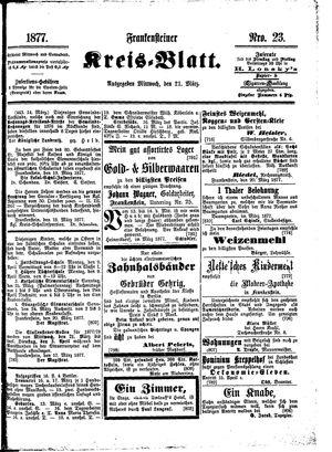 Frankensteiner Kreisblatt vom 21.03.1877