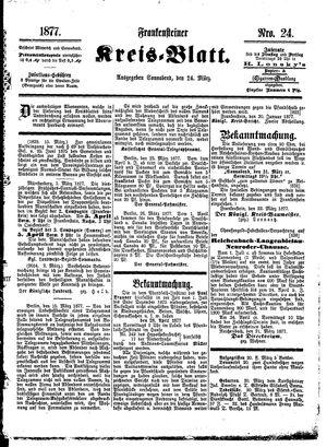 Frankensteiner Kreisblatt vom 24.03.1877
