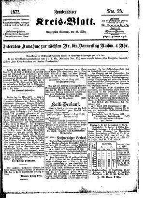 Frankensteiner Kreisblatt vom 28.03.1877