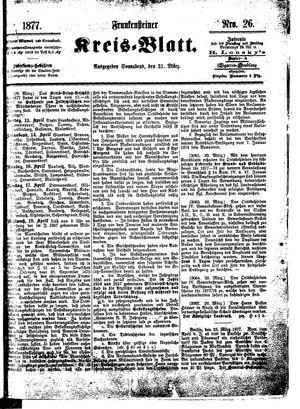 Frankensteiner Kreisblatt on Mar 31, 1877