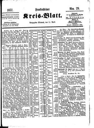 Frankensteiner Kreisblatt vom 11.04.1877