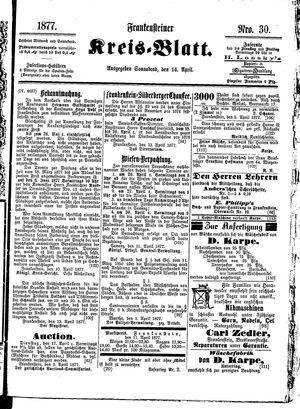 Frankensteiner Kreisblatt vom 14.04.1877