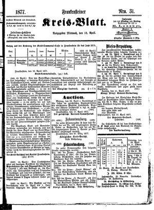 Frankensteiner Kreisblatt vom 18.04.1877