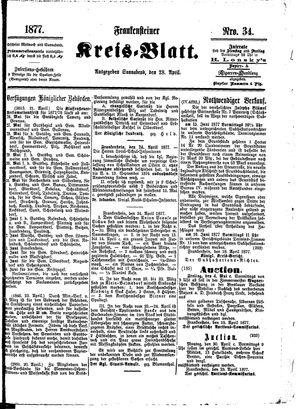 Frankensteiner Kreisblatt vom 28.04.1877