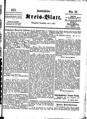 Frankensteiner Kreisblatt vom 05.05.1877