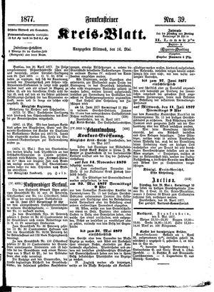 Frankensteiner Kreisblatt vom 16.05.1877