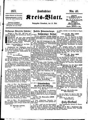 Frankensteiner Kreisblatt vom 19.05.1877