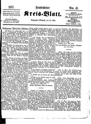 Frankensteiner Kreisblatt on May 23, 1877