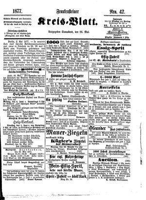 Frankensteiner Kreisblatt vom 26.05.1877