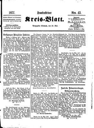 Frankensteiner Kreisblatt vom 30.05.1877