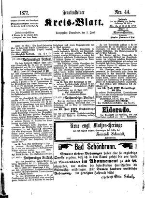 Frankensteiner Kreisblatt vom 02.06.1877