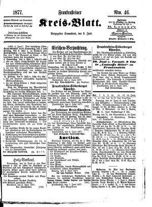 Frankensteiner Kreisblatt vom 09.06.1877