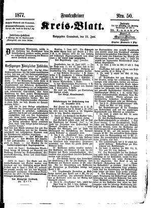 Frankensteiner Kreisblatt vom 23.06.1877