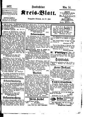 Frankensteiner Kreisblatt vom 27.06.1877