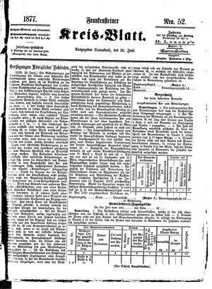 Frankensteiner Kreisblatt vom 30.06.1877