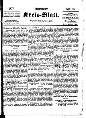 Frankensteiner Kreisblatt vom 04.07.1877