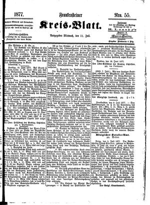 Frankensteiner Kreisblatt vom 11.07.1877