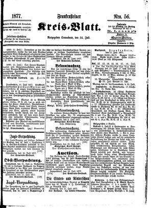 Frankensteiner Kreisblatt vom 14.07.1877