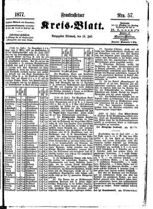 Frankensteiner Kreisblatt on Jul 18, 1877