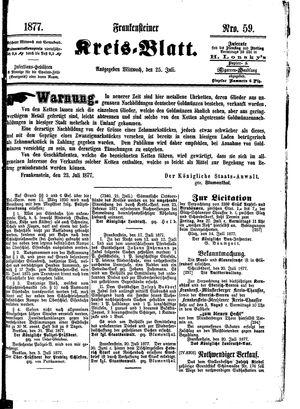 Frankensteiner Kreisblatt vom 25.07.1877