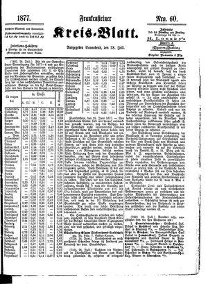 Frankensteiner Kreisblatt vom 28.07.1877