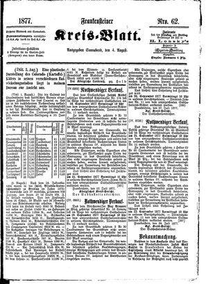 Frankensteiner Kreisblatt on Aug 4, 1877