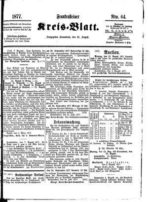 Frankensteiner Kreisblatt vom 11.08.1877