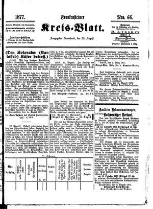 Frankensteiner Kreisblatt vom 18.08.1877