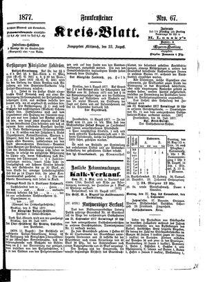 Frankensteiner Kreisblatt vom 22.08.1877