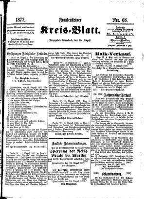 Frankensteiner Kreisblatt vom 25.08.1877