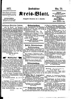 Frankensteiner Kreisblatt vom 01.09.1877