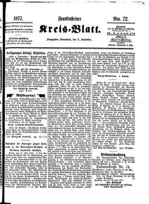 Frankensteiner Kreisblatt vom 08.09.1877