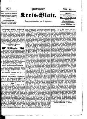 Frankensteiner Kreisblatt vom 15.09.1877