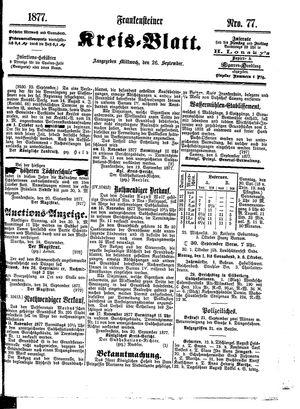 Frankensteiner Kreisblatt vom 26.09.1877