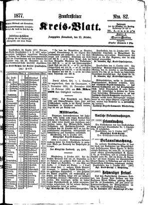 Frankensteiner Kreisblatt vom 13.10.1877