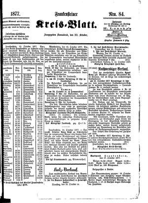 Frankensteiner Kreisblatt vom 20.10.1877