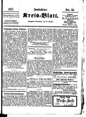 Frankensteiner Kreisblatt vom 27.10.1877