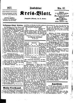 Frankensteiner Kreisblatt vom 31.10.1877
