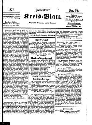 Frankensteiner Kreisblatt vom 03.11.1877